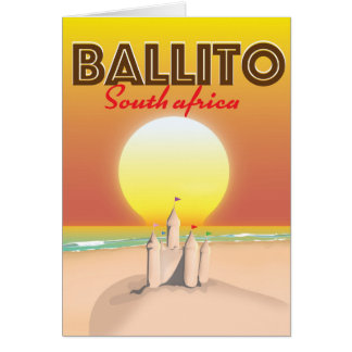 Ballito South african travel poster Card