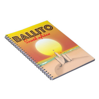 Ballito South african travel poster Notebooks