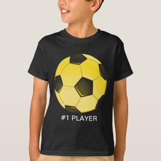 Ballon de football américain jaune ou football tee-shirt