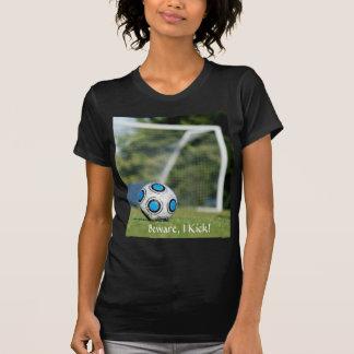 Ballon de football avec le but t-shirt