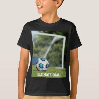 Ballon de football avec le but tee shirts