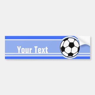 Ballon de football ; Bleu Autocollant De Voiture
