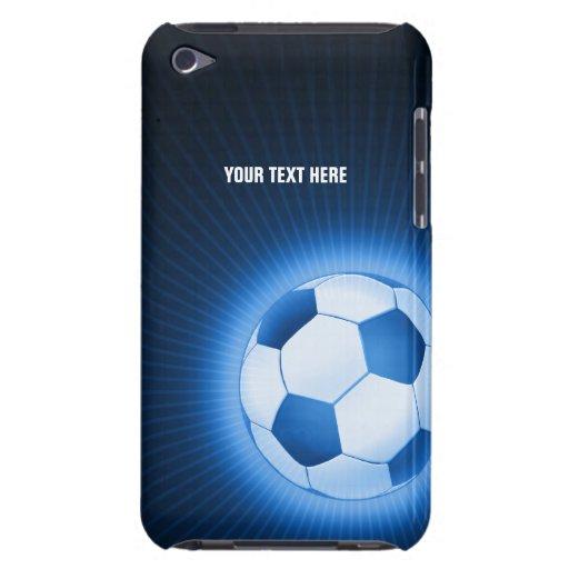 Ballon de football bleu personnalisé (le football) coque barely there iPod