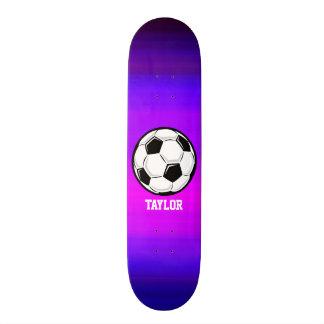Ballon de football ; Bleu violet et magenta Mini Skateboard 18,4 Cm