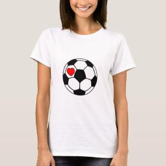 Ballon de football (coeur rouge) t-shirt