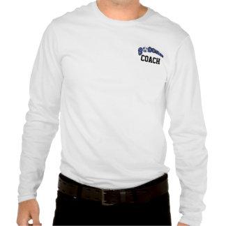 Ballon de football dans bleu-foncé t shirt