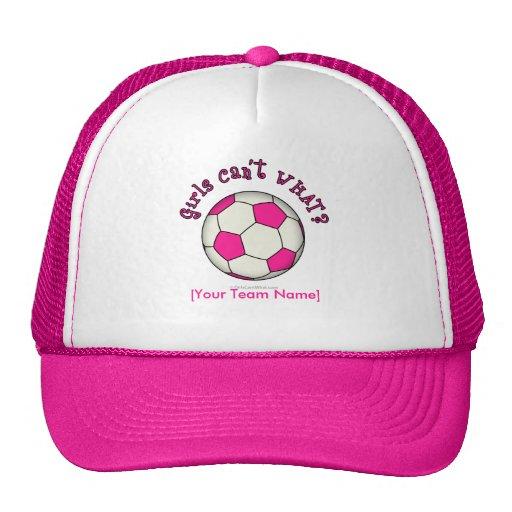 Ballon de football dans le rose casquettes de camionneur