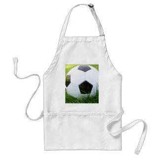 Ballon de football dans l'herbe d'été tablier