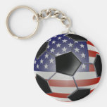 Ballon de football de drapeau des USA Porte-clef