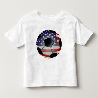 Ballon de football de drapeau des USA T Shirt