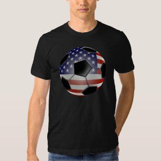 Ballon de football de drapeau des USA Tshirts