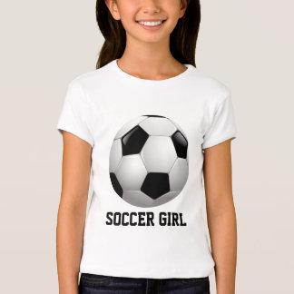 Ballon de football de fille du football t-shirt