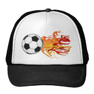 Ballon de football du feu casquettes de camionneur