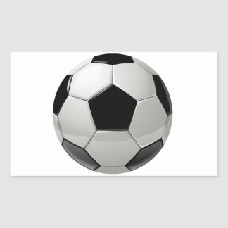 Ballon de football du football sticker rectangulaire