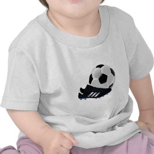 Ballon de football et crampon t-shirt