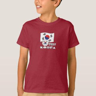 Ballon de football et drapeau de la république de tee-shirt