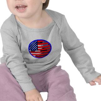 Ballon de football et les Etats-Unis Flag2 le T-shirt