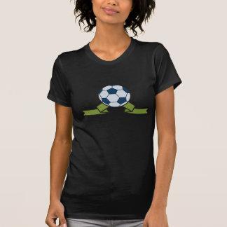Ballon de football et T-shirt des femmes de ruban