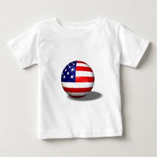 ballon de football Etats-Unis T-shirt Pour Bébé