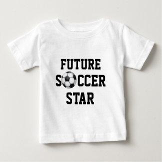 Ballon de football, étoile du football t-shirt pour bébé