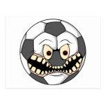 ballon de football fâché cartes postales