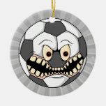 ballon de football fâché décorations pour sapins de noël