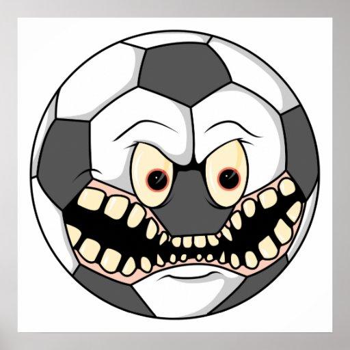 ballon de football fâché poster