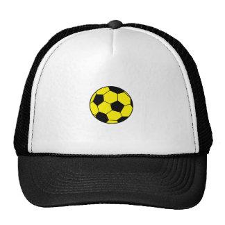 Ballon de football jaune casquettes de camionneur