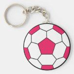 Ballon de football Keychain rose Porte-clefs