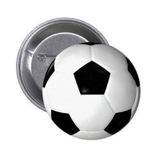 Ballon de football (le football) macaron rond 5 cm