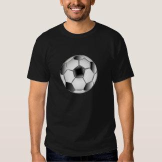 Ballon de football noir et blanc t-shirt