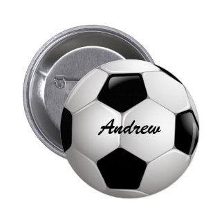 Ballon de football personnalisable du football macaron rond 5 cm