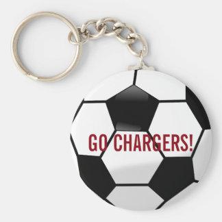 Ballon de football personnalisé avec le nom et le porte-clé rond