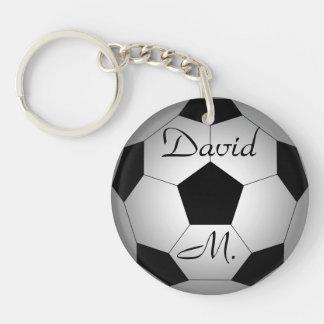 Ballon de football, personnalisé porte-clé rond en acrylique double face
