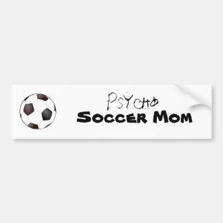 ballon de football, psychopathe, maman du football autocollant de voiture