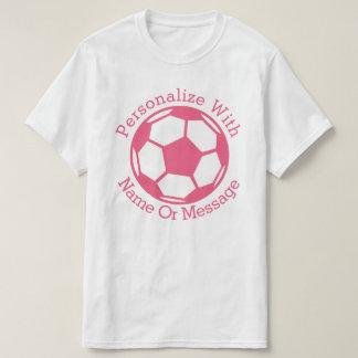 Ballon de football rose PERSONNALISÉ T-shirt