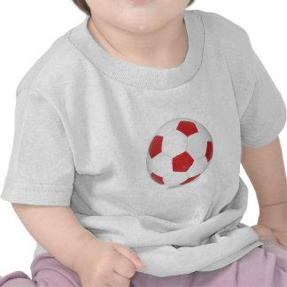 Ballon de football rouge t-shirt