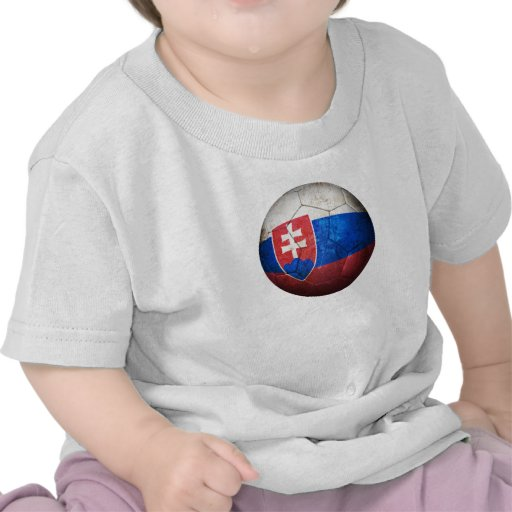 Ballon de football slovaque usé du football de dra t-shirts