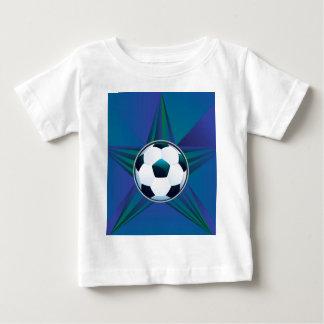 Ballon de football sur l'arrière - plan de rayons t-shirt pour bébé