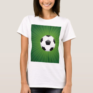 Ballon de football sur les rayons Background2 T-shirt