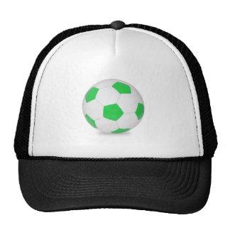 Ballon de football vert casquettes