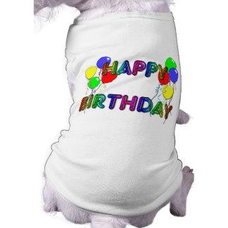 Ballons D1 de joyeux anniversaire T-shirt Pour Chien