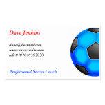 Ballons de football colorés cartes de visite personnelles