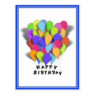 Ballons de joyeux anniversaire pour le garçon (équ carte postale