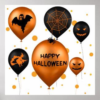 Ballons de partie de Halloween - affiche