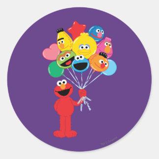 Ballons d'Elmo Sticker Rond