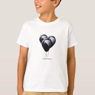 Ballons noirs et blancs du football t-shirt