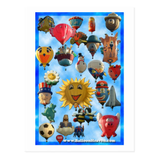 Balloon ABQ-424 Postcard
