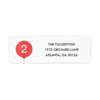 Balloon Address Label - Red