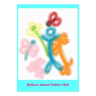 Balloon Animal Twister Profile Card Large Business Card